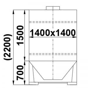 bulk-material-container-3000-litres-standing-drawing-3901A