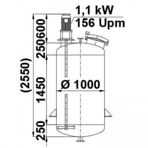 mixing-tank-1100-litres-standing-drawing-3906
