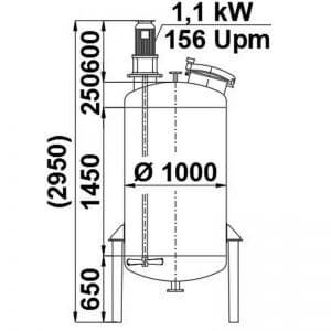 mixing-tank-1100-litres-standing-drawing-3906A