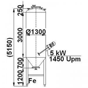 mixing-tank-4000-litres-standing-drawing-3288