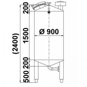 stainless-steel-tank-1000-litres-standing-drawing-3951