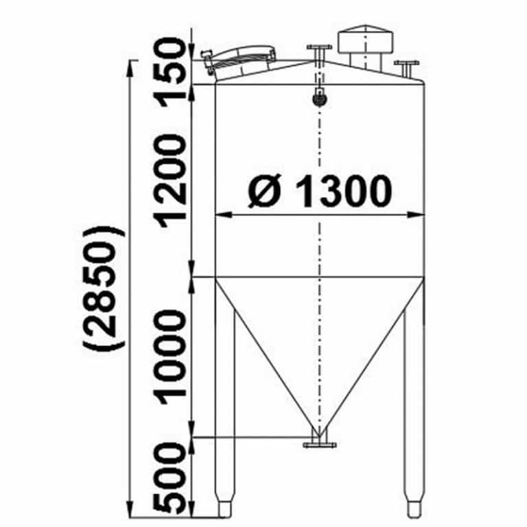 stainless-steel-tank-2000-litres-standing-drawing-3957