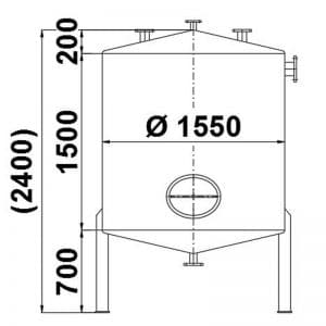 stainless-steel-tank-3000-litres-standing-drawing-3927