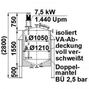 mixing-tank-1100-litres-standing-drawing-3784