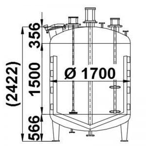 mixing-tank-4200-litres-standing-drawing-3743