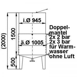 stainless-steel-tank-1000-litres-standing-drawing-3564