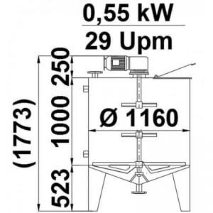 mixing-tank-1135-litres-standing-drawing-3974